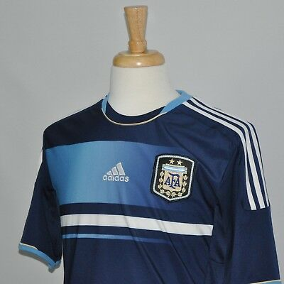 Men Adidas AFA Argentina Soccer Jersey Climacool Futbol Away Blue Authentic  M dfff5e996
