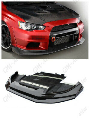 WIDE BODY VS Style Front Lip W/ Diffuser For 08-12 Mitsubishi Lancer Evo X