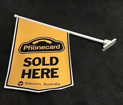 """Large Telecom Phonecard """" Sold Here"""" Advertising Sign -Phonecard - Collectable"""