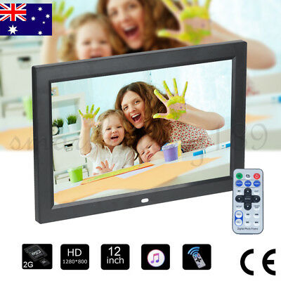 Full HD Electric 12 inches Digital Photo Frame HD Video Slideshow MP3/4 Player