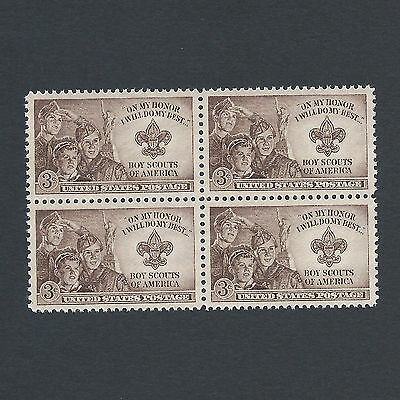 BOY SCOUTS - Vintage Mint Set of 4 Stamps 68 Years Old!
