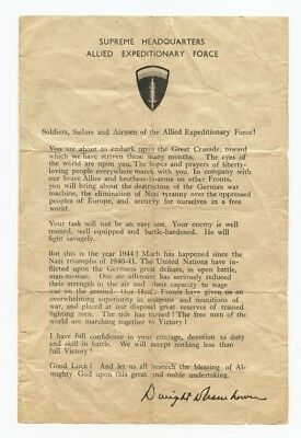 Eisenhower D-Day Message To The Troops
