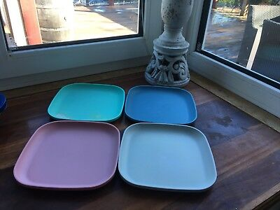 Tupperware Picnic Snack Lunch Plates Kids Soft Pastels Gorgeous *free Post*