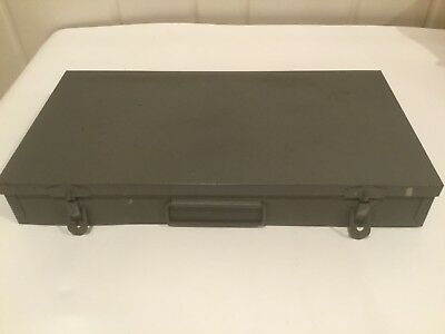 Vintage 35 mm Slide Storage Tray Gray Metal Box BRUMBERGER NY, USA 150 Slots