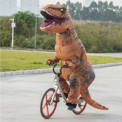 Inflatable Dinosaur Trex Costume Suit Air Fan Operated Blow Up cosplay Halloween