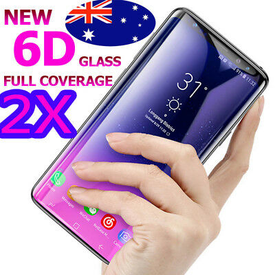 2X 6D Tempered Glass Cover Case Screen Film For Samsung Galaxy S7 / S8 S9 Plus