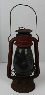 Vintage Winged Wheel No. 500 Railroad Barn Tubular Kerosene Oil Lantern Japan