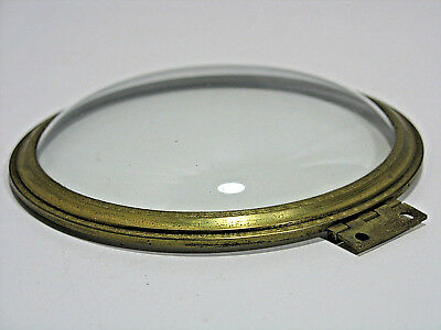"Vintage Solid Brass Clock Bezel with Convex Glass 4.5"" Engraved Antique Part"