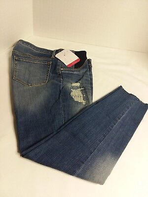cab9208a3e41d Isabel Maternity Skinny Jeans Jeggings side Panels Blue Jean NWT Size 10  New J2