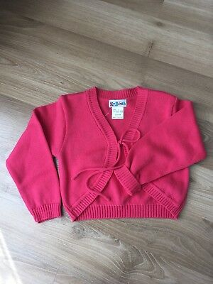 Girls Red Cardigan Size 3 COTTON BNWT very Cute