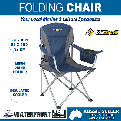 Oztrail Sovereign Camping Arm Chair Portable Outdoor Picnic Fishing Folding Seat