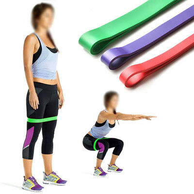 Set of 3 Heavy Duty Resistance Band Loop Power Gym Fitness Workout Yoga Exercise