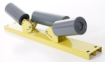 conveyor belt roller set multiple angle 3 rollers in frame channel / baseplate