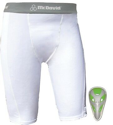 (Large) - McDavid Double Layer Sliding Short with Youth Flex Cup. Free Shipping
