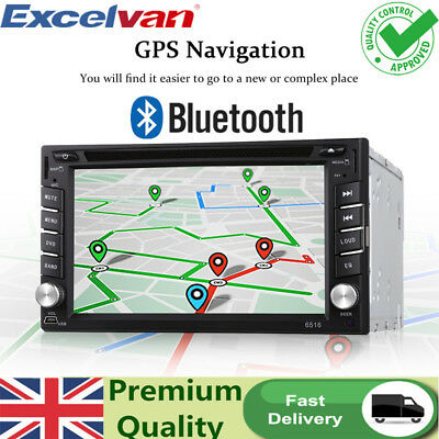"""2 DIN Double 6.2"""" Car Stereo Radio Player Bluetooth Sat NAV 1080P Touch Screen"""
