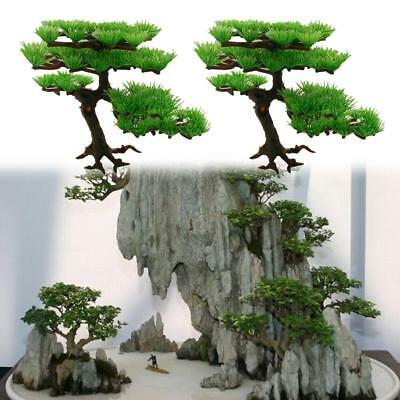 Green Stand Plant Tree Aquarium Ornament Aquarium Tank Bonsai Rockery