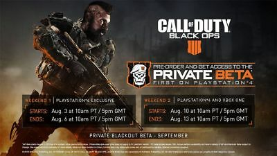 Black Ops 4 Beta Key - Call of Duty BO4  Blackout-Multiplayer No support