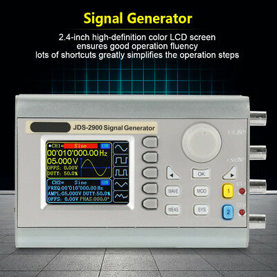 JDS2900 15-60MHz DDS Signal Generator Counter Frequency 2 Channel AC 100-240V