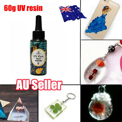 60g DIY UV Ultraviolet Resin Hard glue Curing Solar Cure Sunlight Activated  BO