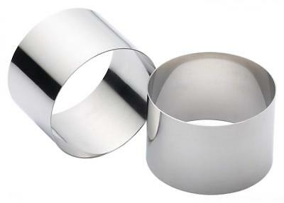 Kitchen Craft Cooking Rings, Stainless Steel Set of 2, 9cm x 6cm