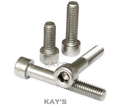 M10 x 1.25mm FINE THREAD PITCH SOCKET CAP SCREWS ALLEN KEY BOLT STAINLESS STEEL