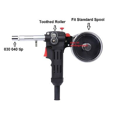 180A MIG Spool Gun Mig Gun 24V DC Wire Feed Aluminum Welder without Cable