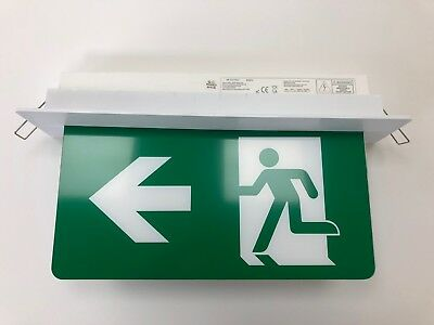 LED Emergency Exit Sign Recessed Fitting