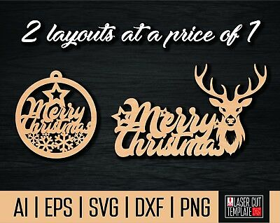 Laser cut file Christmas decoration,christmas dxf,christmas sign,cut file 2019