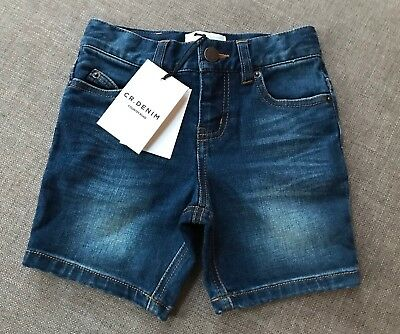 Country Road Boys Long Denim Shorts Size 2 Years RRP$49.95