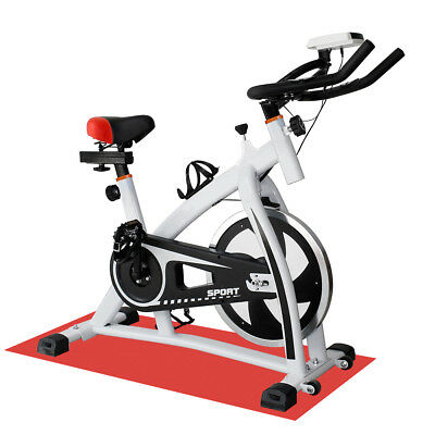 White Spin Exercise Bike Fitness Cardio Workout Machine Max Load 200KG Home Gym
