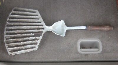 Rare Antique Porcelain over Cast Iron, Gas Stove, Camping, Grilling, Broiling w/