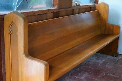 8' oak church pews in great condition