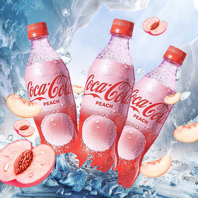Peach Coca Cola ! Limited Edition ! MADE IN JAPAN unopened 500ml bottle x 1
