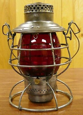 PRR Pennsylvania Lines Adlake Reliable Tall Lantern w/Clear Cast GLobe