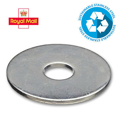 Penny/Repair Washers A2 Stainless Steel For Bolts Screws M5 M6 M8 M10 M12 304 Ss