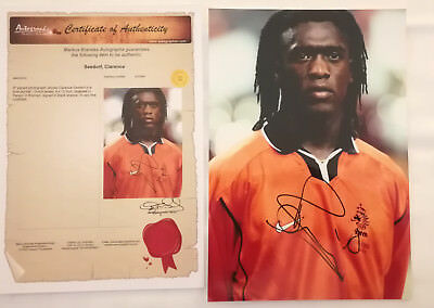 In Person Autograph / Autogramm from Seedorf Clarence / Holland Fussball