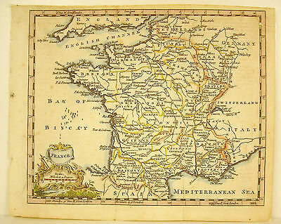 Map France view by the English Map of France by the English XVIII Britain