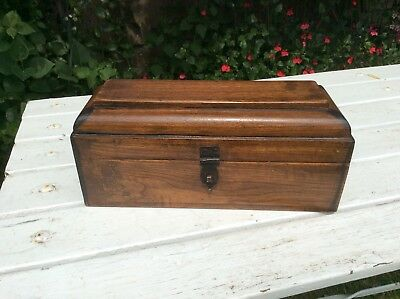 Antique Wooden Hidden Secret Compartment Pen Pencil Box Vintage Indian Trinkets