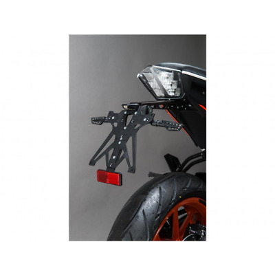 Support de plaque réglable noir ktm 390 duke Lightech TARKT105