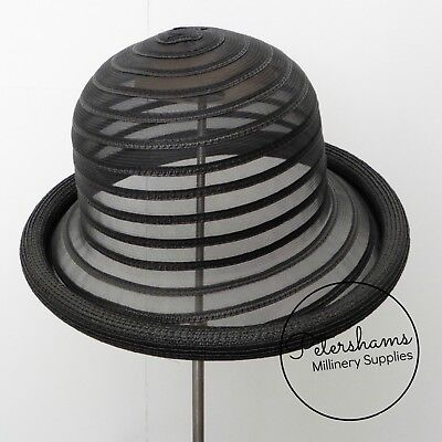 Crinoline & Poly-Braid Rolled Edge Hat Base for Millinery & Hat Making