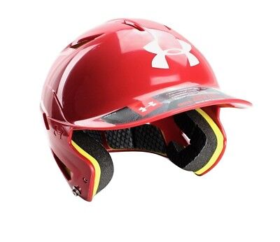 (Scarlet) - Under Armour Converge Solid Adult Baseball/Softball Batting Helmet