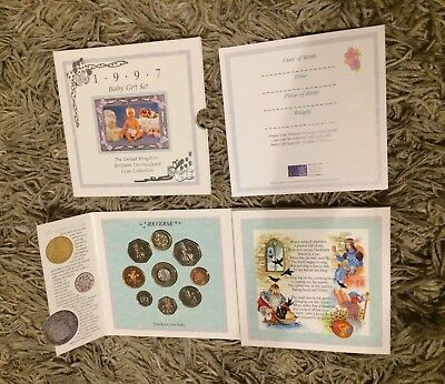 Royal Mint 1997 Baby Gift Set UK Uncirculated Coin Collection 21st Birthday Gift