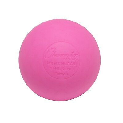 (12-Pack, Pink) - Champion Sports Coloured Lacrosse Balls: Official Size for