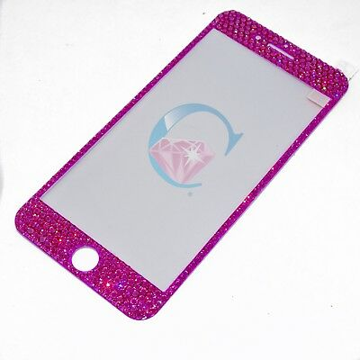iPhone 7/8 Plus Tempered Screen Protector covered in SWAROVSKI Crystals - Pink