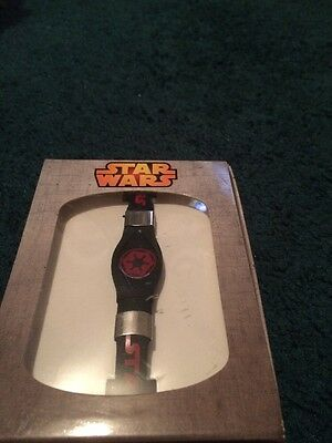 STAR WARS Imperial Logo Silicone Stainless Steel Bracelet  Rogue One - NIB