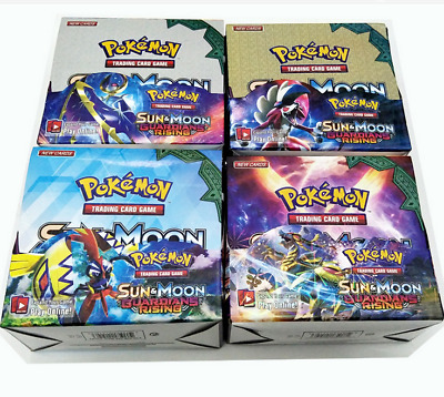 6 Versions-324 Pcs Pokemon  Booster Box Card Game -  SUN AND MOON