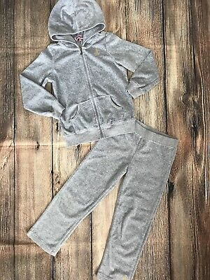 ecd6557235 JUICY COUTURE GIRLS Velour Set Jacket Pants Gray Tracksuit Sweatsuit ...