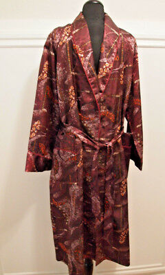 Spectacular VINTAGE SATIN ROBE DRESSING GOWN S-M HIGH FASHION NEW YORK MISUN
