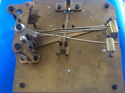 Vintage Mantle Clock Brass Movement Striking/ Chiming, Parts Restore  5 Strikers