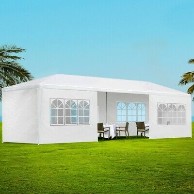 Gazebo Party Tent Event Marquee UV Resistant Waterproof Pavillion White 3 x 9 M